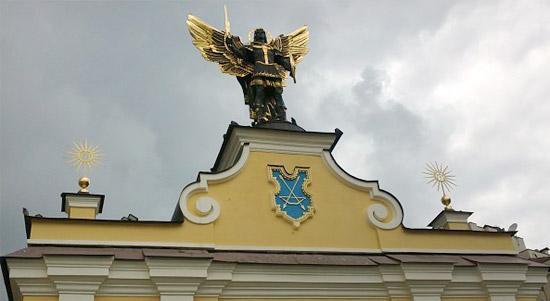 The statue of archangel Michael - Kiev